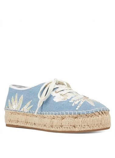 Nine West Espadril Mavi